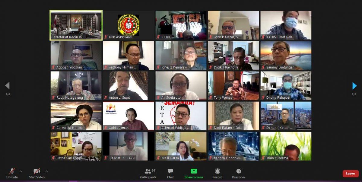 Pertemuan Virtual antara Ketua Umum Kadin beserta jajaran Dewan Pengurus dan Ketua Umum Asosiasi Anggota Luar Biasa (ALB)